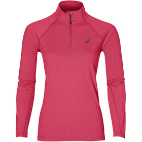 asics LS 1/2 Zip Jersey Women cosmo pink heather